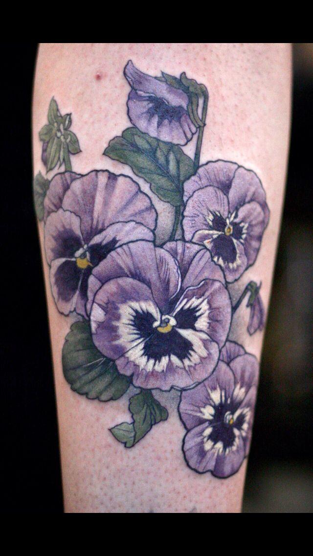Pingl par audra hobbs sur tattoos pinterest - Tatouage pensee fleur ...
