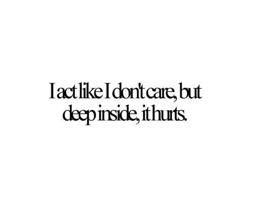 Im Fine It Only Hurts Hurt Love