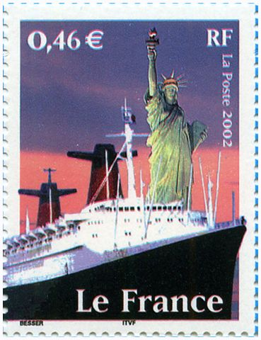 Les Transports Le France 2002 Philatelie Timbres De France Paquebot