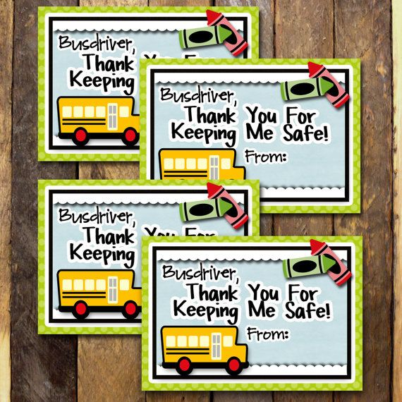 photograph relating to Bus Driver Thank You Card Printable titled Pin upon Merchandise