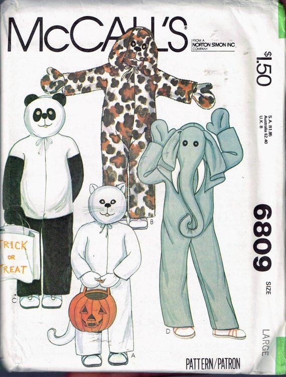 Size 8-10 Boy or Girl Animal Jumpsuit Halloween Costume Mascot Head ...