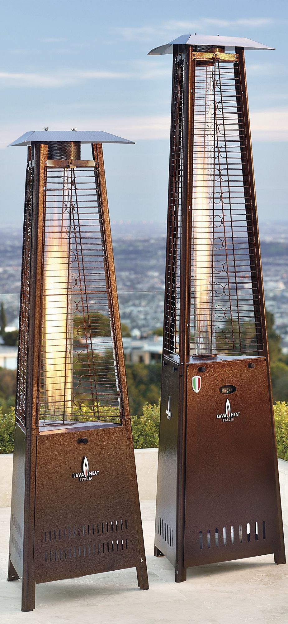 Instantly Add Toasty Comfort And Stylish Ambiance To Your Outdoor Setting  With Our Capri Patio Heater.