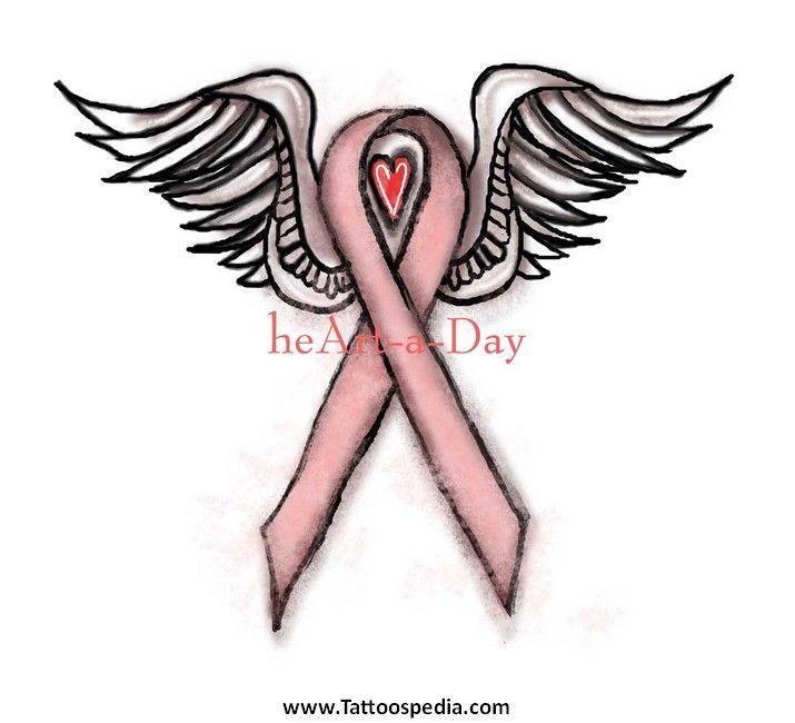 Angel Cancer Ribbon Tattoos Breast cancer ribbon tattoos
