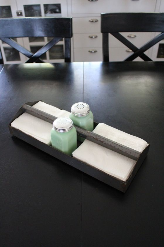 Tool Box Tray As A Napkin Holder In 2019 Vintage Storage