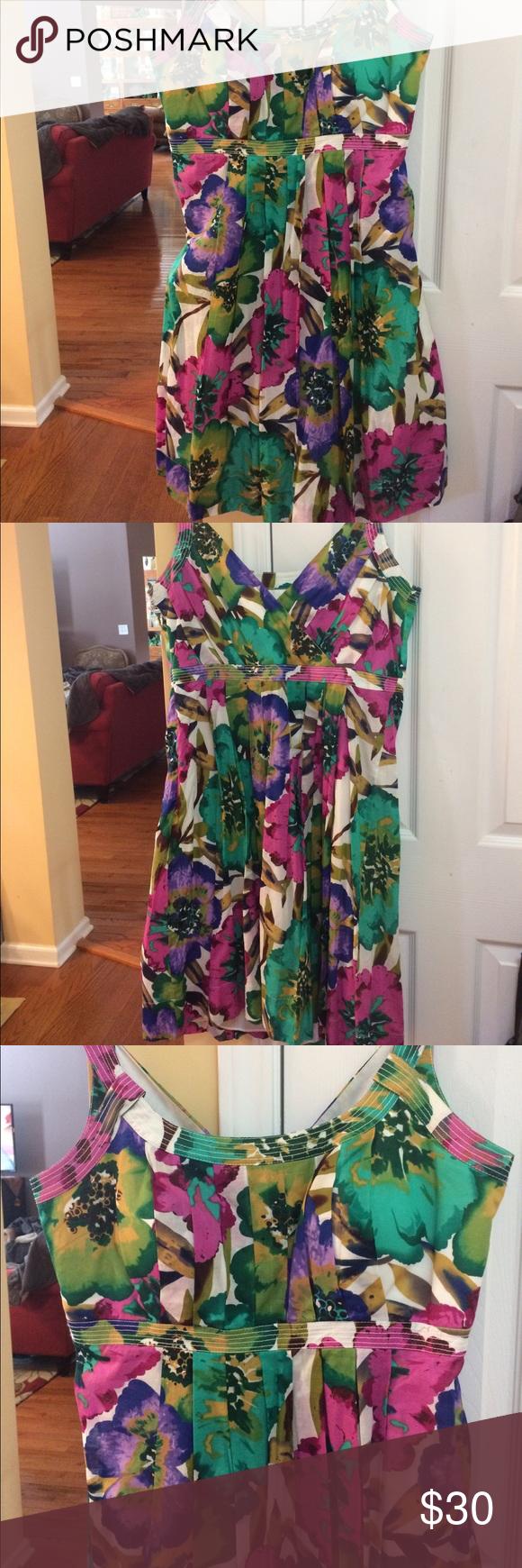 Calvin Klein summer dress. NWT 14W GORGeous Calvin Klein colorful summer dress. Cool & comfortable! 14W Calvin Klein Dresses