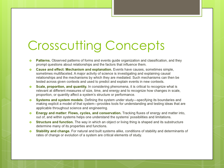 Crosscutting Concepts | Next Generation Science Standards | Pinterest
