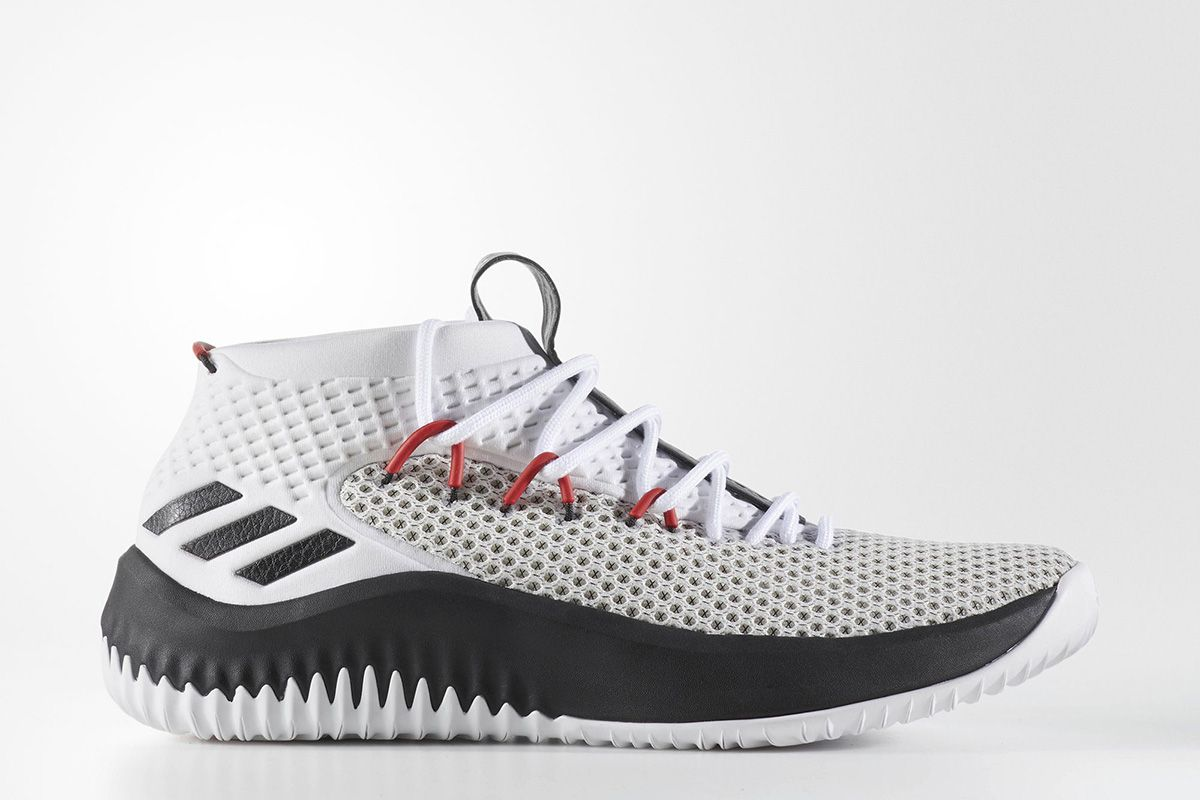 d4cd645b2be7 2017 adidas dame 4 rip city white black red by3759 for sale