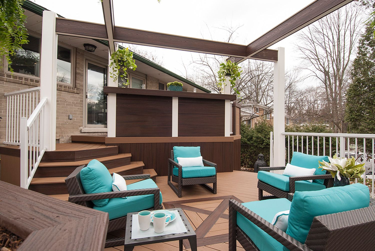 Before and Afters of Backyard Decks Patios and Pergolas