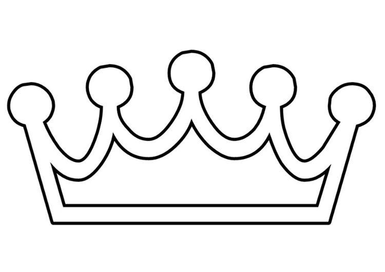 Más Coronas Para Pintar Patrones Y Plantillas Crown
