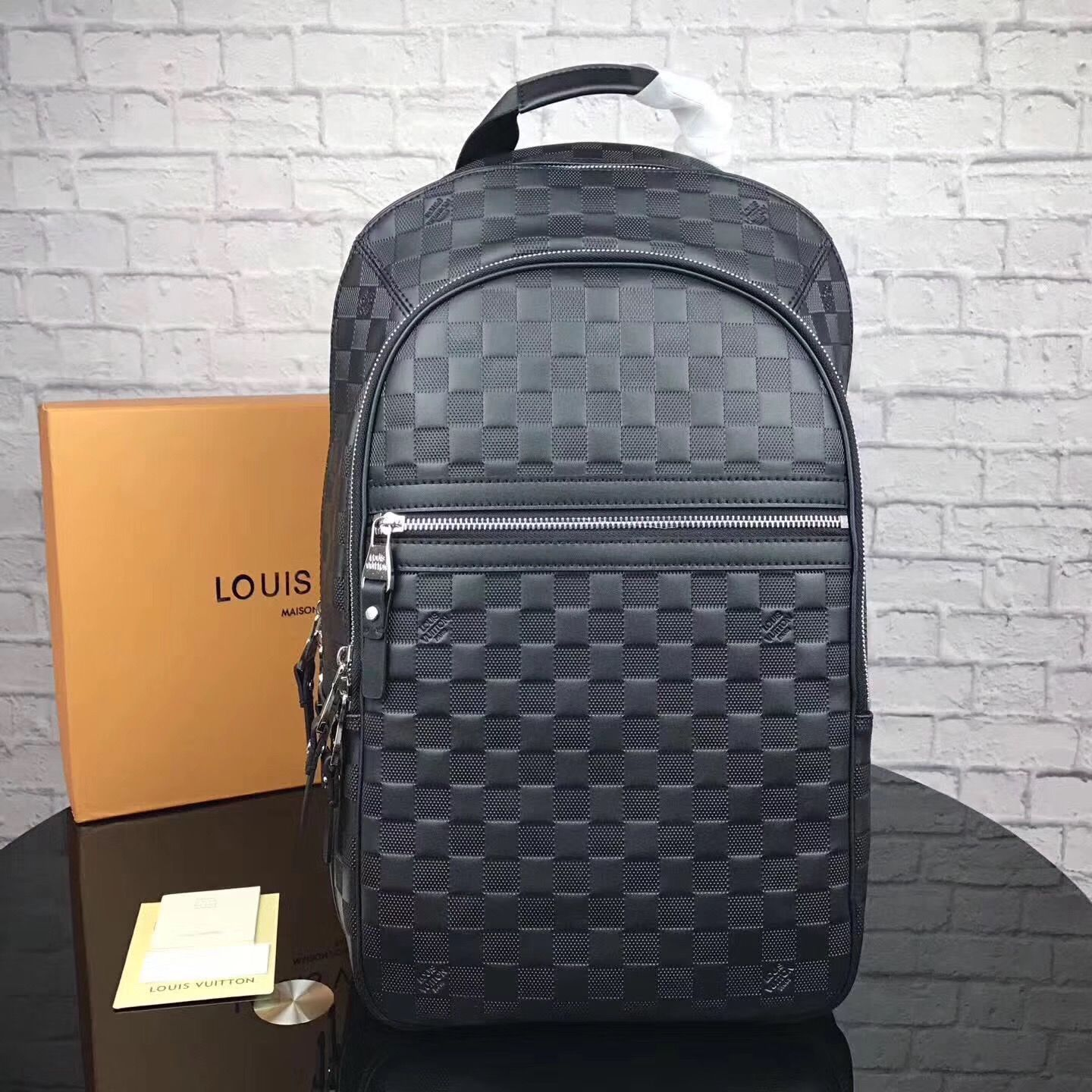 08e6cc0f9818 Louis Vuitton lv Michael backpack Damier infini leather