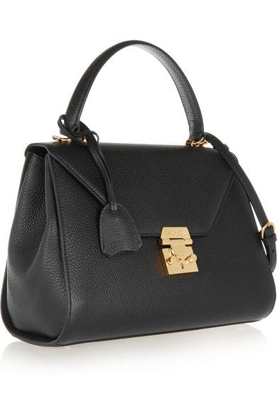 fc609f2cb2f Black textured-leather (Calf) Push lock-fastening front flap Comes with dust  bag…