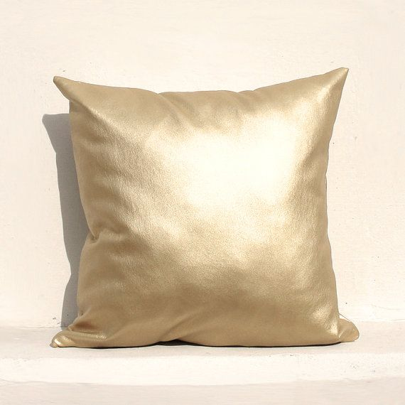 Gold Boho Pillow Cover Rustic