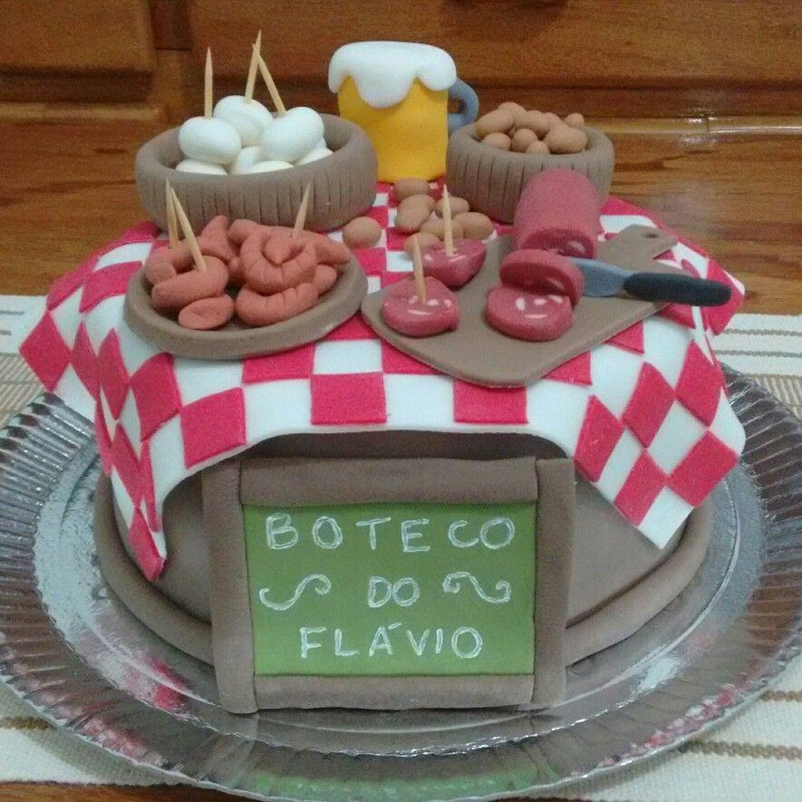 Bolo decorado Boteco botec Pinterest Boteco Bolo