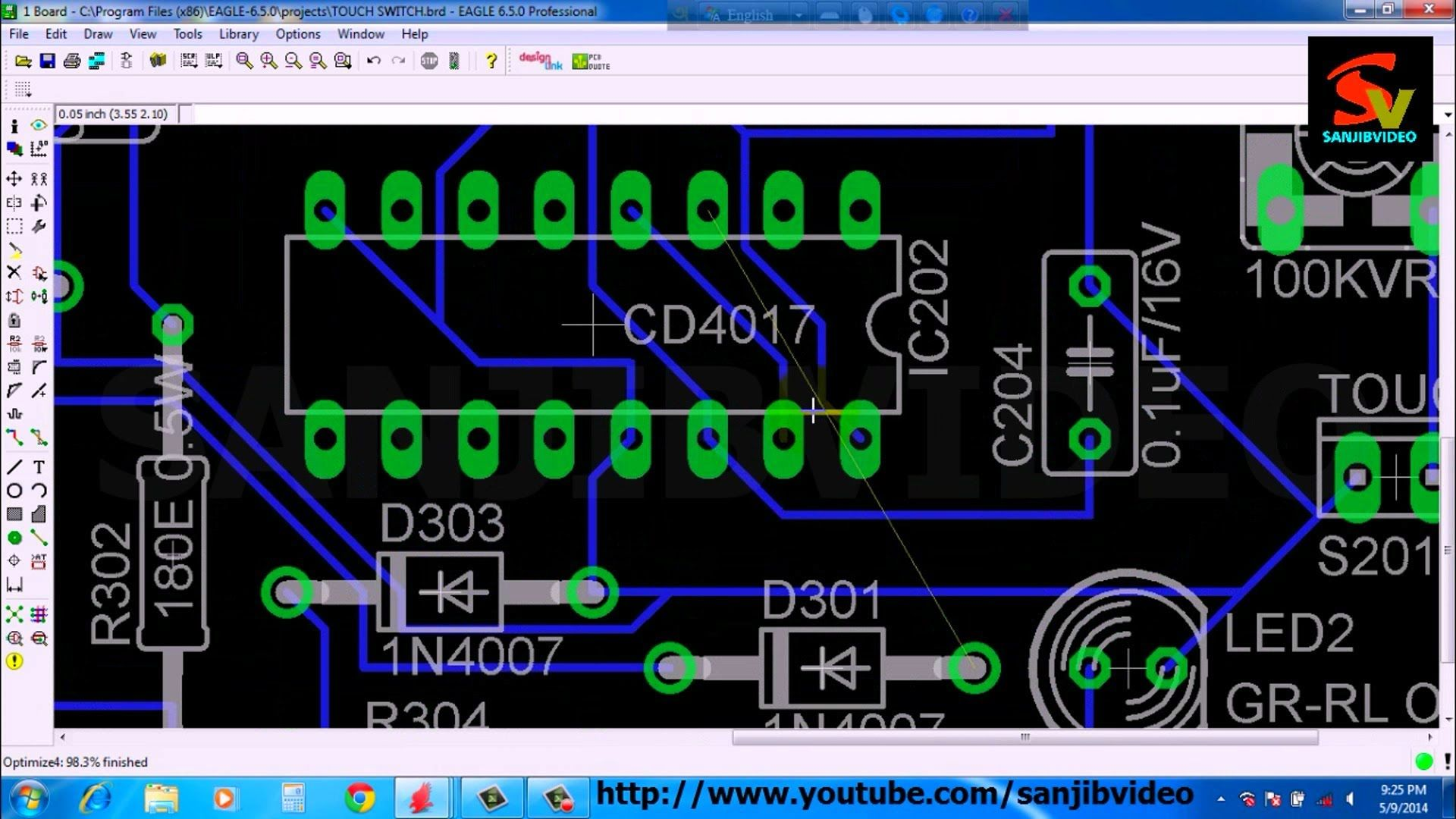 Eagle Pcb Tutorial Examples And Forms Part 2 Using The Schematic Editor Maxembedded 9 Of 12 Layout Fix Ratsnest With Jumper How
