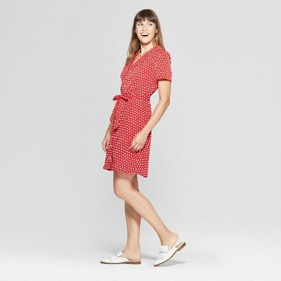 2d93ca0e8 Women's Polka Dot Dress - A New Day + Vital Voices - Red L ...