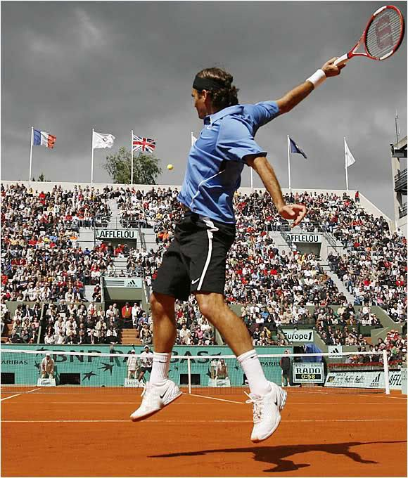 French Open Switzerland Roger Federer In Action Vs Colombia Tennis Photography Roger Federer Tennis Champion
