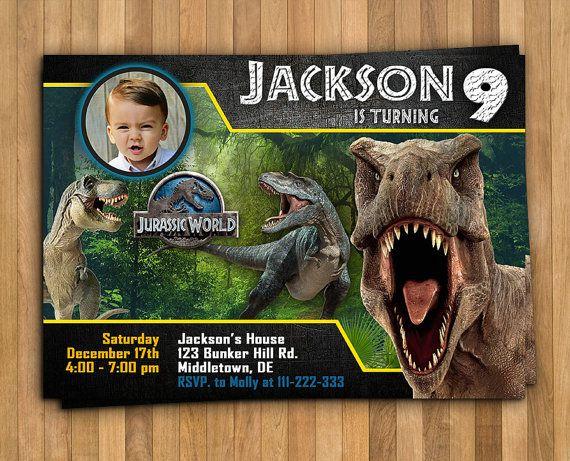 Jurassic World Invitation Personalized Invitation 5x7 Or