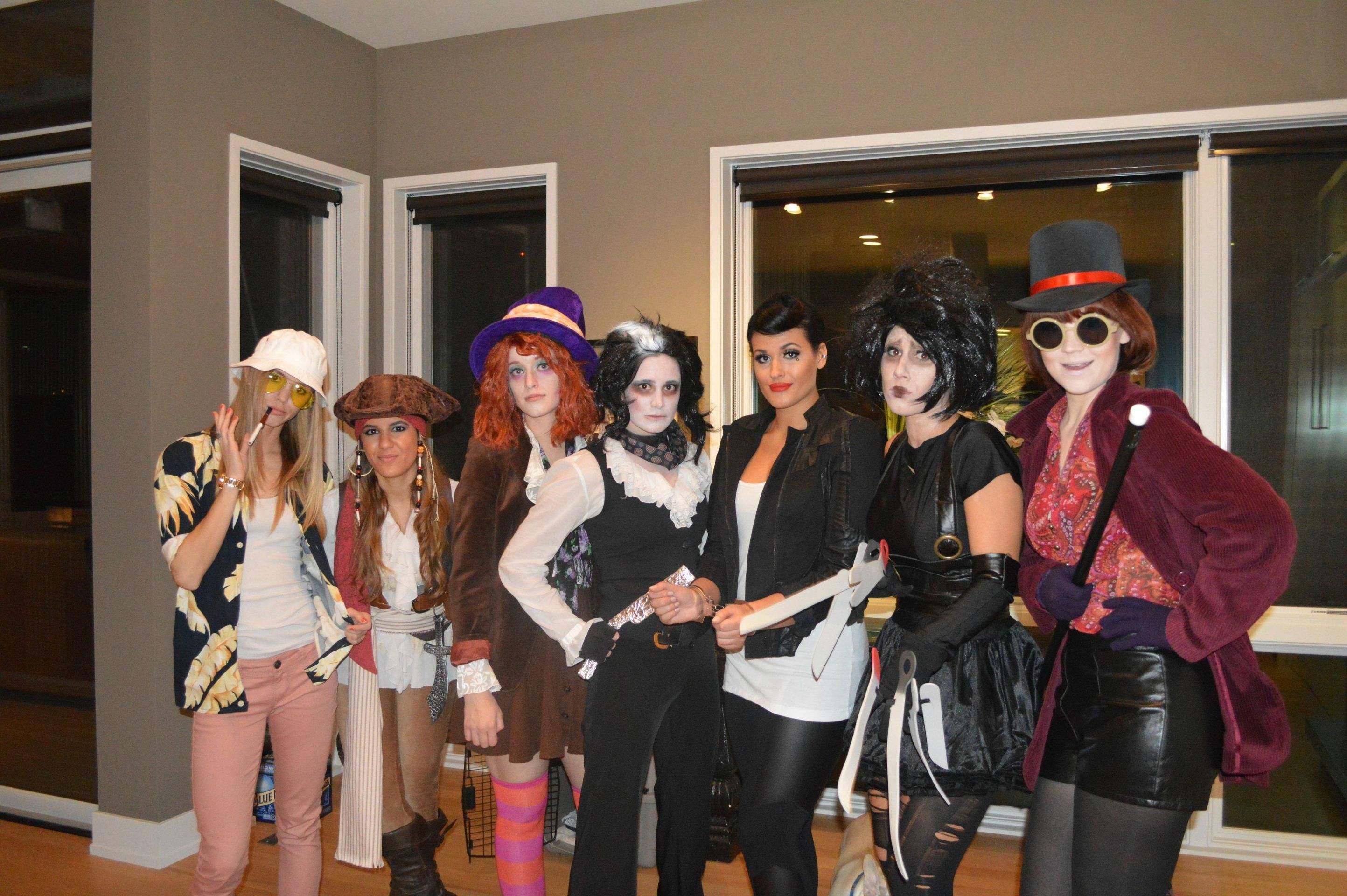 Best Group Costume: 7-person Johnny Depp. | Chocolate factory ...