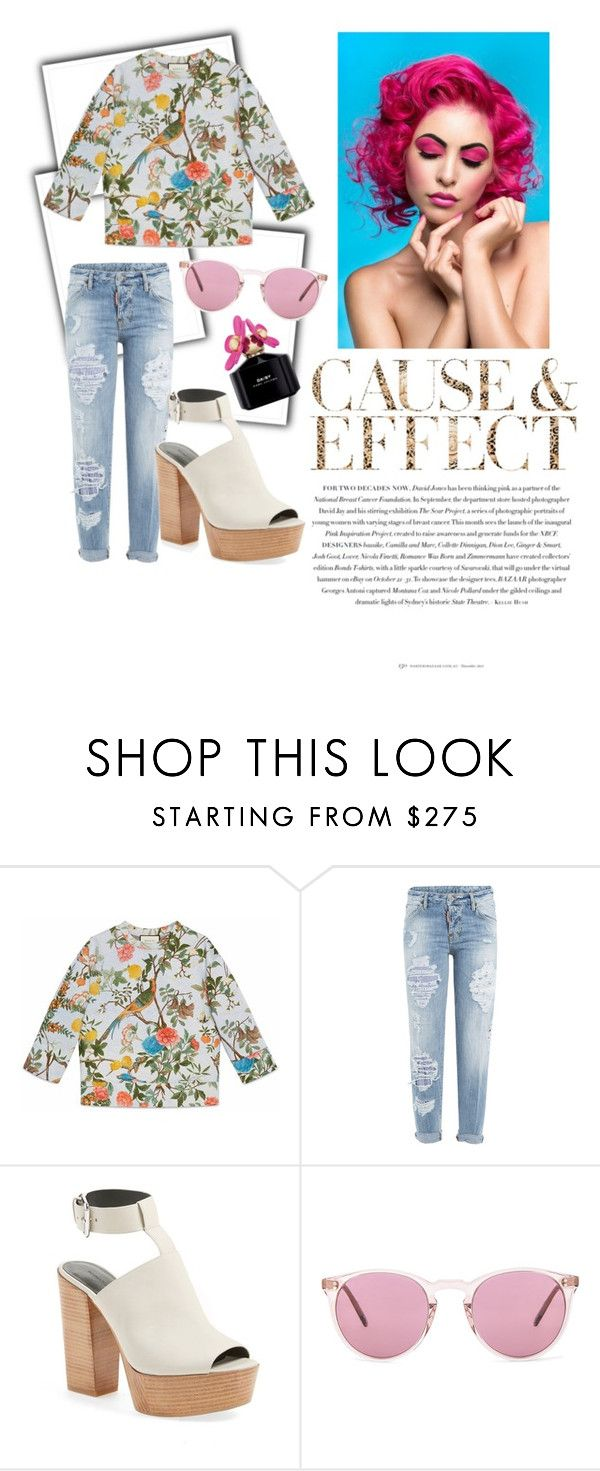 """Spring Has Sprung"" by fabowielous ❤ liked on Polyvore featuring Envi, Gucci, Dsquared2, Rebecca Minkoff, Oliver Peoples and Marc Jacobs"