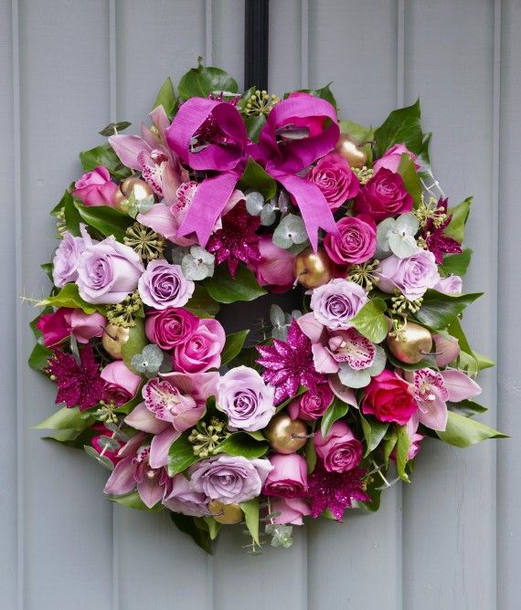 Delicieux Make A Colourful Flower Christmas Wreath Full Of Blooms For Your Front Door  With This Professional, Step By Step Guide By Womanu0027s Weekly!