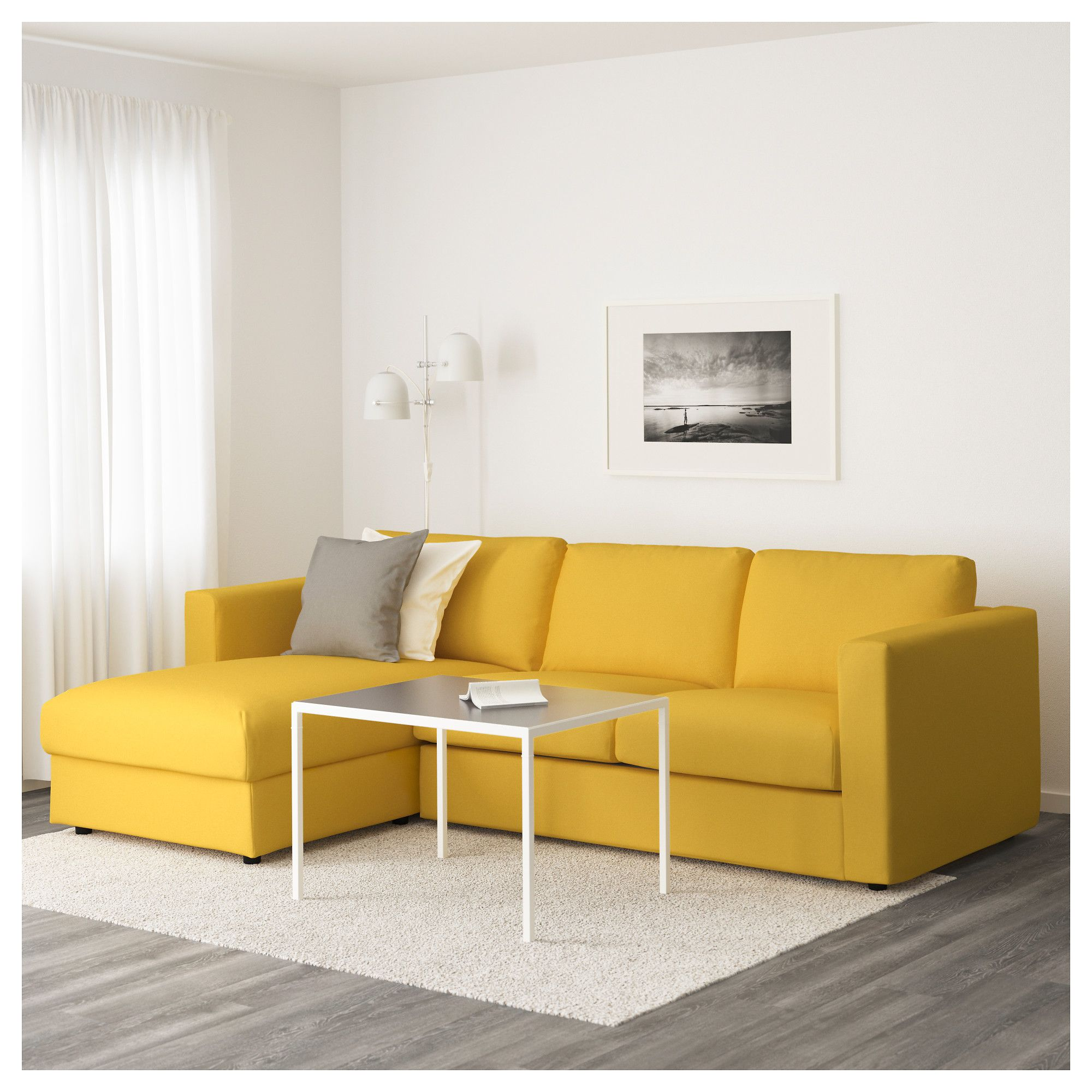 Vimle Sofa With Chaise Orrsta Golden Yellow In 2019