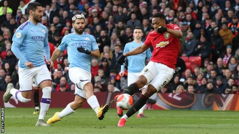 Man Utd 2 0 Man City Anthony Martial And Scott Mctominay Score In Derby Win In 2020 Anthony Martial Sterling Manchester City Martial