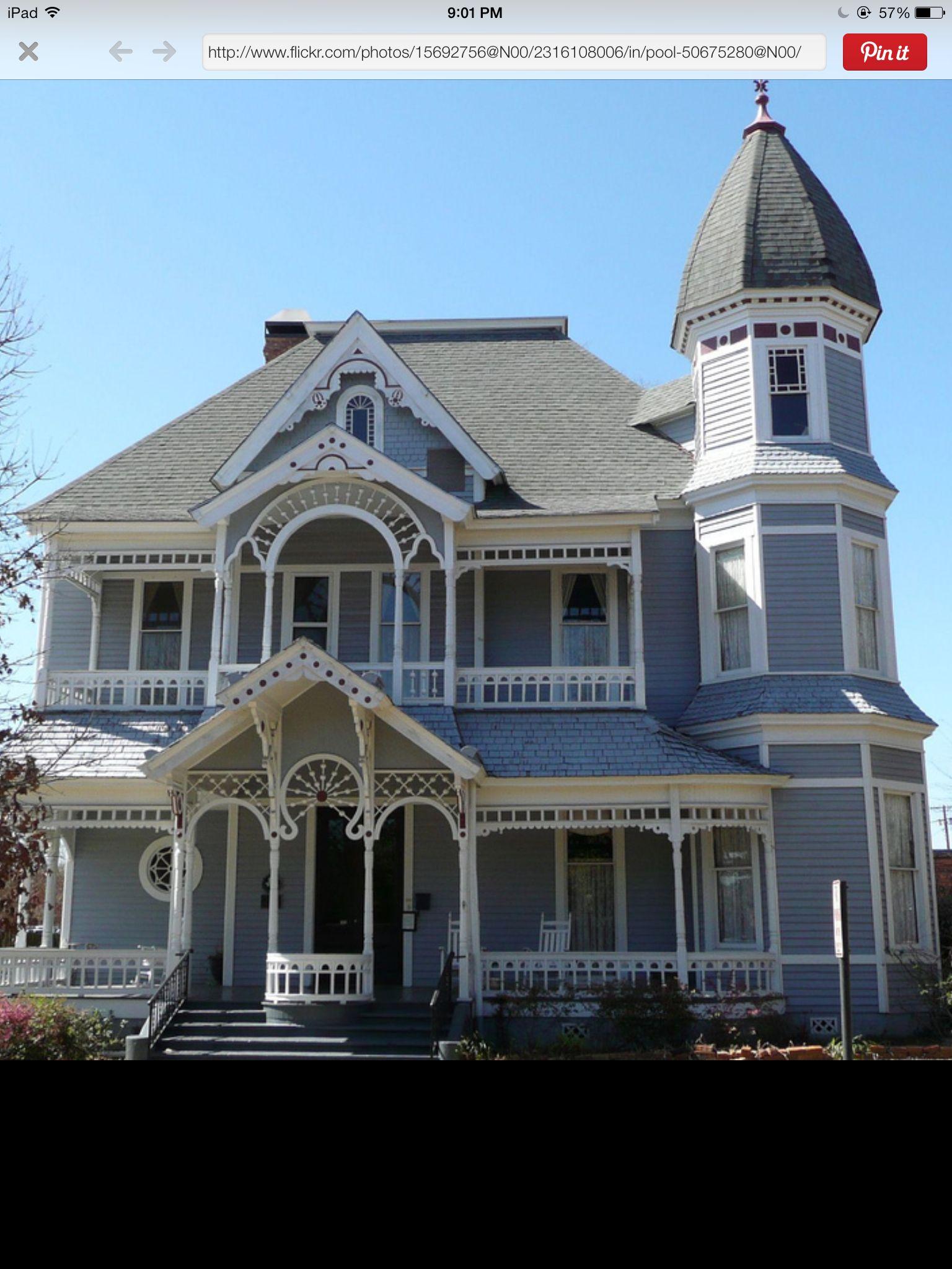 Gingerbread Victorian Exterior House Paint Ideas