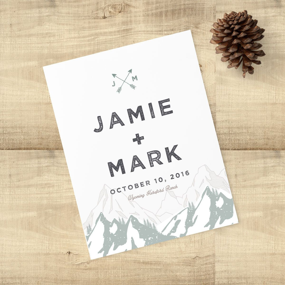 Don't Like The Little Arrow Logo At Top Too Trendy But I Rest: Tree Wedding Invitations Arrow At Reisefeber.org