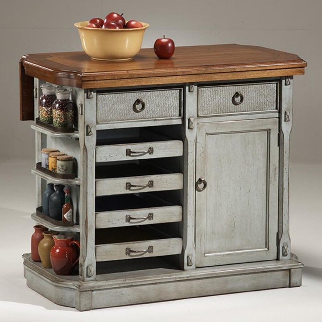 Small kitchen storage on a budget kitchen carts islands for Antique kitchen island