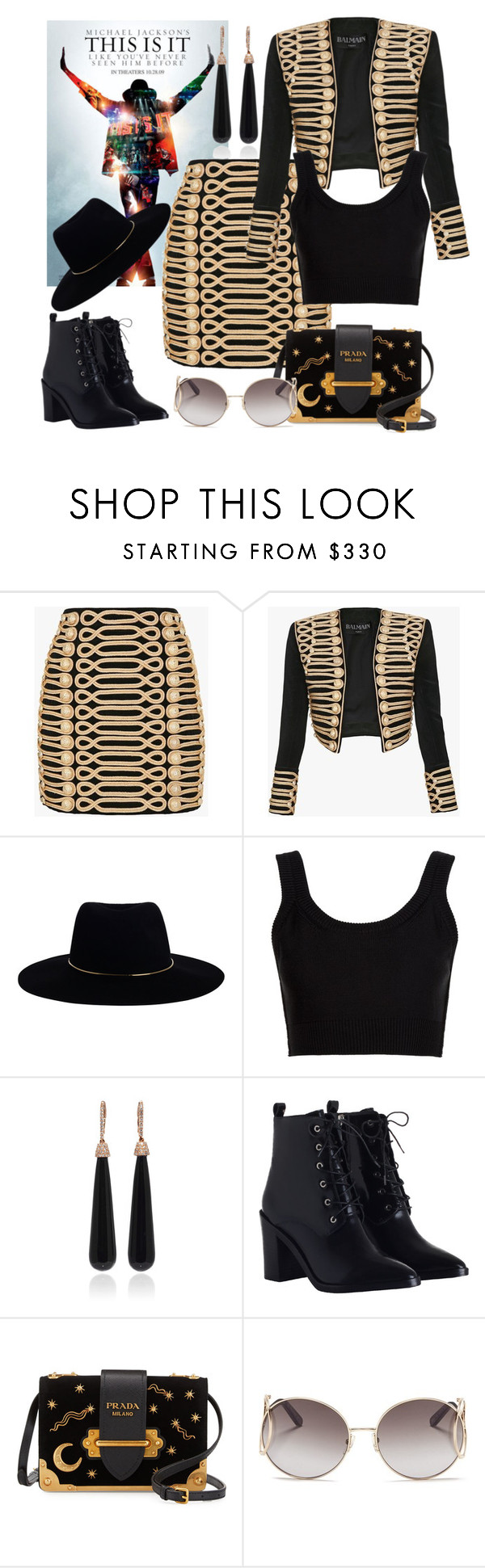 """""""It"""" by blorden on Polyvore featuring Balmain, Zimmermann, Calvin Klein Collection, SUSAN FOSTER, Prada and Chloé"""