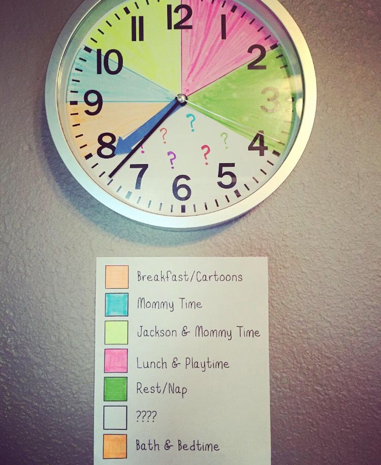Kids clock summer schedule #summerschedule