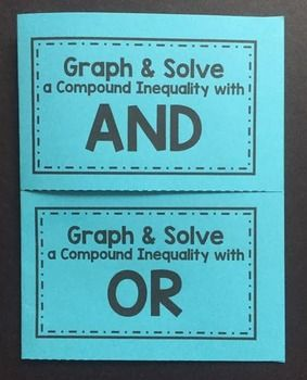 Graphing Solving Compound Inequalities Foldable Compound Inequalities Inequality Foldable Compound Inequalities Foldable