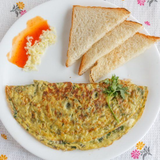 There is nothing better tasting in world than a cheesy and fluffy Omelette