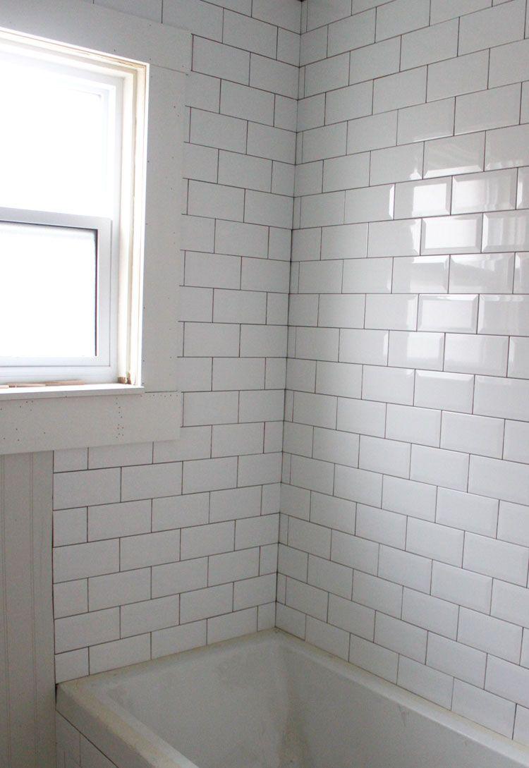 tub shower subway tile Google Search bathroom Pinterest