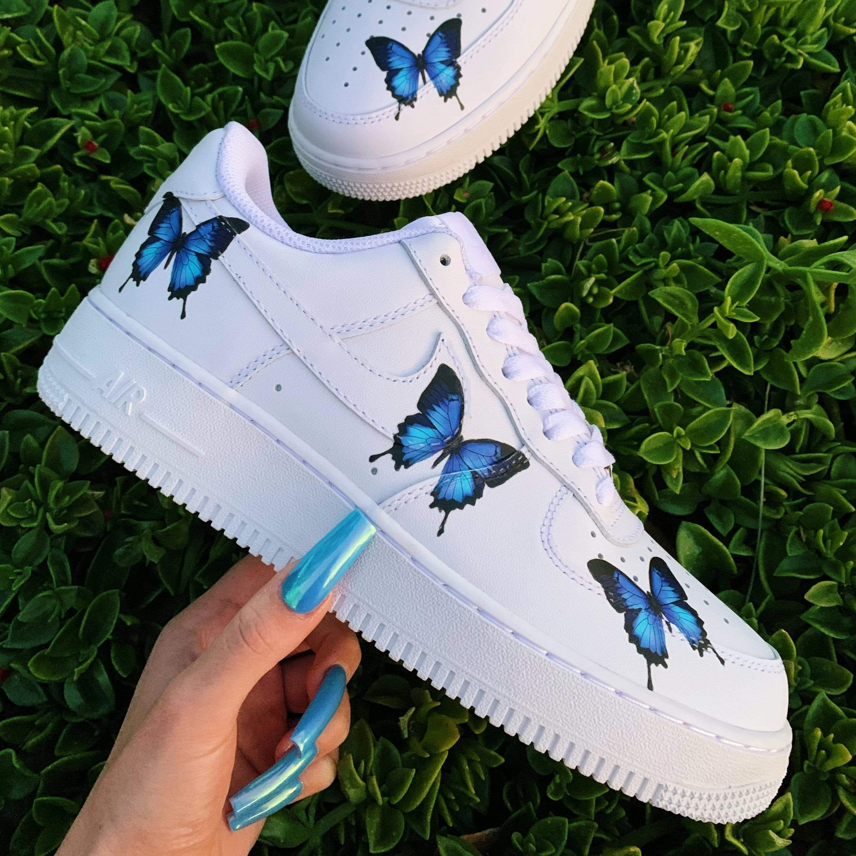 Blue Drip Butterfly AF1 in 2020 (With images) Custom
