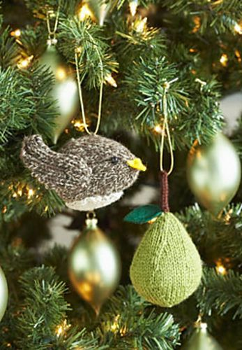 10 Free Knit Christmas Ornament Patterns Partridge Pear Trees And