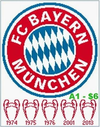 Easy Patterns Bayern Munchen Munich Cross Stitch Pattern Cross Stitch Bayern Cross Stitch Patterns