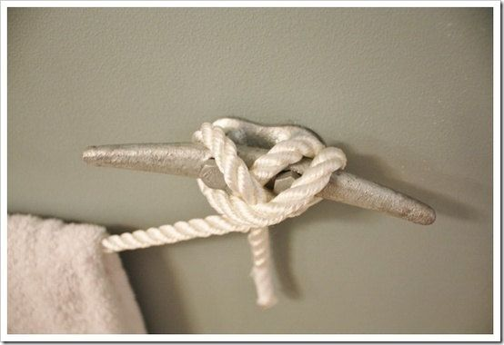 Nautical Boat Rope Towel Rack by NauticalCouture on Etsy, $22.00
