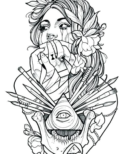 Free Tattoo Coloring Pages