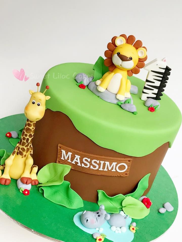 Kids Jungle Theme Cake Ideas Partyfide Jungle Inspired Cake
