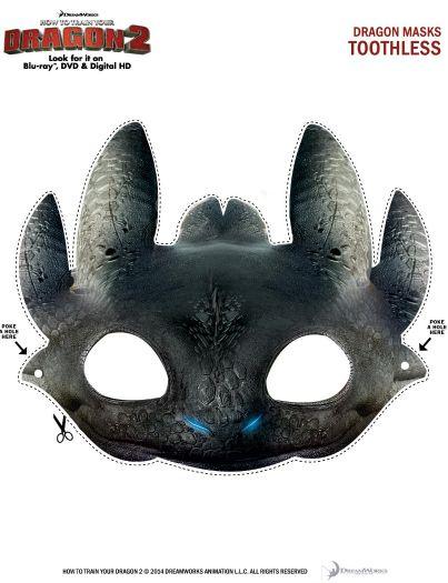 Kostenlos ausdruckbare zahnlos Drache-Maske | Ohnezahn in 2018 ...