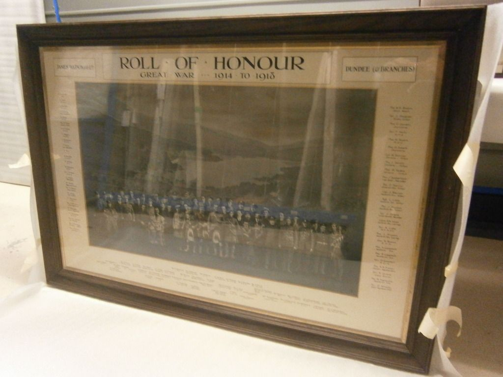 The Scottish War Memorials Project : James Watson & Son company, photograph montage roll of honour