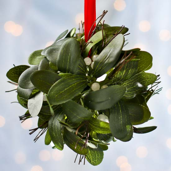 Mistletoe Ball Decoration Beauteous Hanging Artificial Mistletoe Kissing Ball Ornament  Christmas Design Inspiration