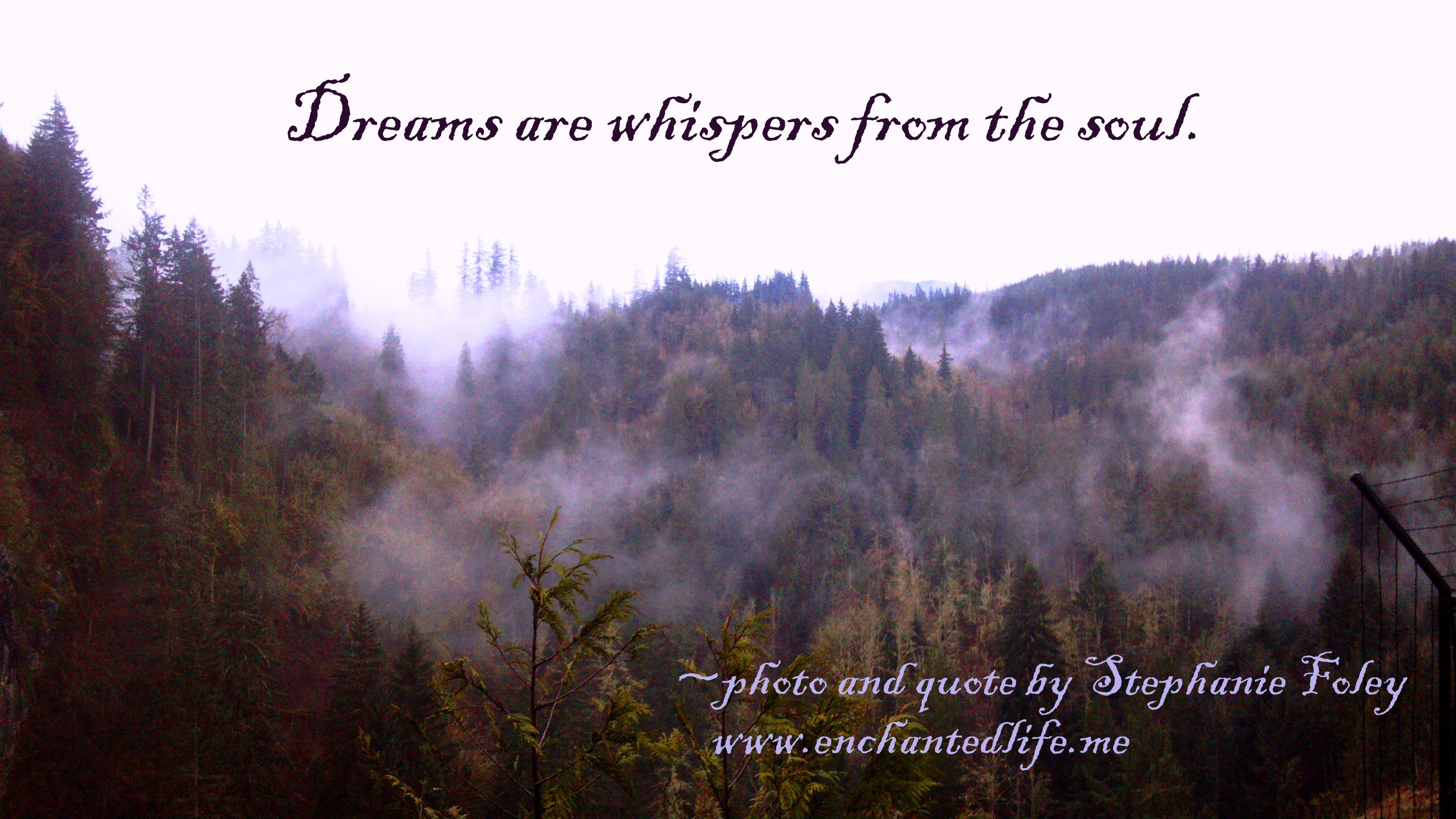 Whispers from the soul.