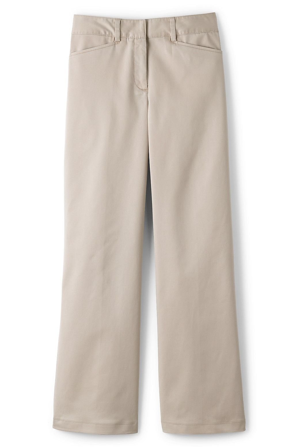 Women's Mid Rise Chino Wide Leg Pants from Lands' End