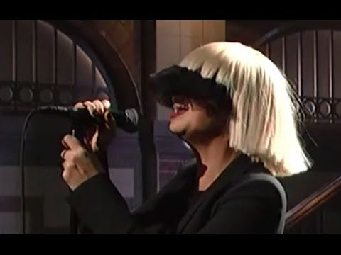 This is the live mic feed an amazing vocal performance by sia of an amazing vocal performance by sia of her song mozeypictures Image collections