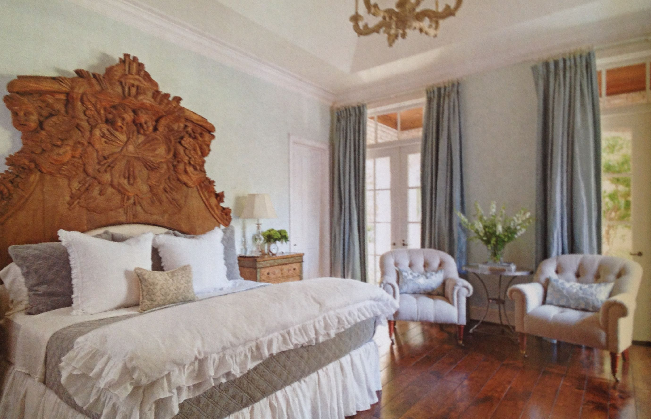 Lovely Country French bedroom