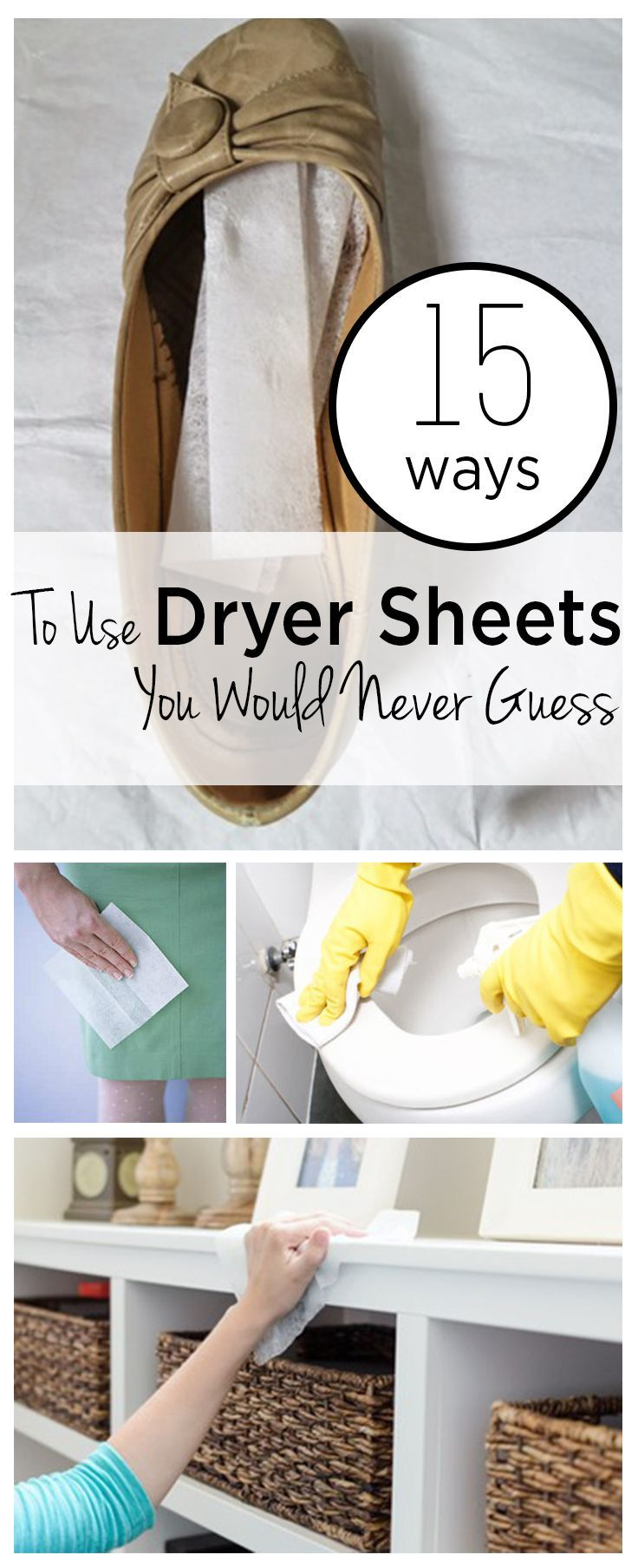 15 Ways To Use Dryer Sheets That You Would Never Guess House