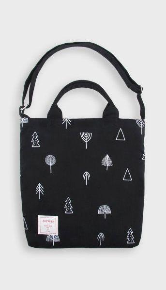 Fashiontroy Hipster & indie black printed cotton tote bag   Pokar ...