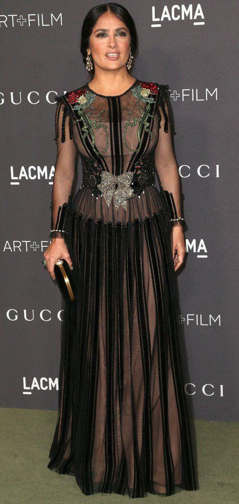 Salma Hayek in Gucci attends the LACMA Art + Film Gala. # ...